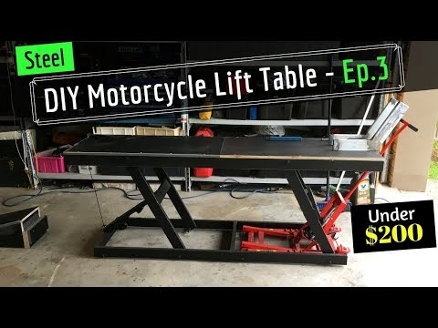 DIY Motorcycle Hydraulic Lift Table - From Old Shelving - Ep 3