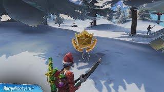 Search Between Three Ski Lodges Location Guide - Fortnite Battle Royale (Season 7 Challenge)