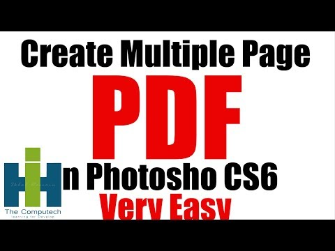 how to make pdf in photoshop cs6 in HINDI