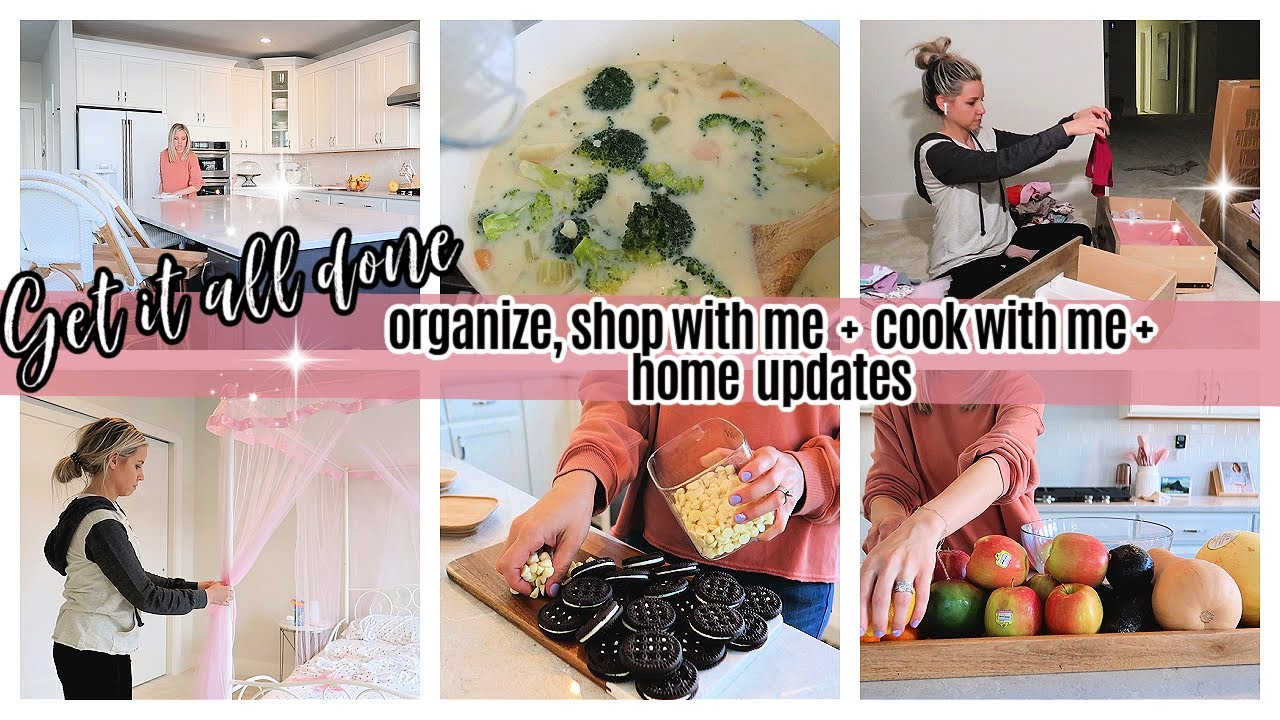 *NEW*GET IT ALL DONE  COOK WITH ME, ORGANIZE, SHOP WITH ME + HOME UPDATES TIFFANI BEASTON HOMEMAKING