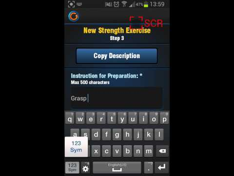 Create your own Exercises With Gymprovise Workout App