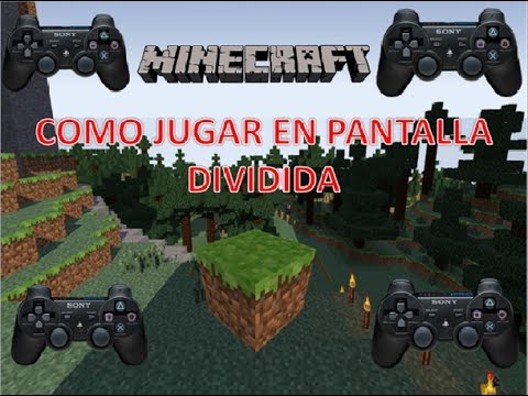 Como jugar minecraft ps3 pantalla dividida (2-4)