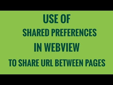 Use of shared preferences to share data between pages