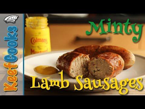 Minty Lamb Sausages #keefcooks