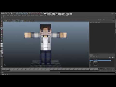 Minecraft - Maya - Tutorial - How to Build Your Character, Ep 4 Part A - Leg Joints and IK