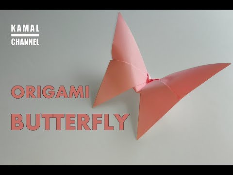 DIY origami BUTTERFLY