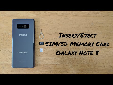 How to insert / eject SIM / SD Memory card Note 8
