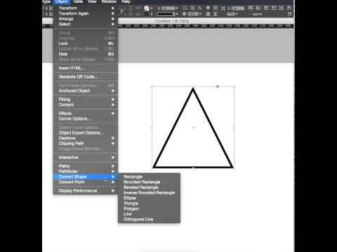 Indesign Shape Converting