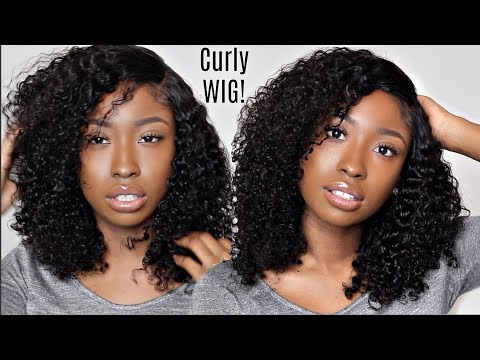 MOST Natural Looking Curly Hair Lace WIG... Lace Closure Unit Tutorial & Customization!! Affordable!