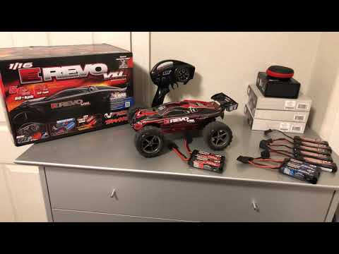 TRAXXAS E REVO VXL 1/16TH SCALE ( WITH TQI 2.4 GHZ TRANSMITTER COLOR RED) REVIEW