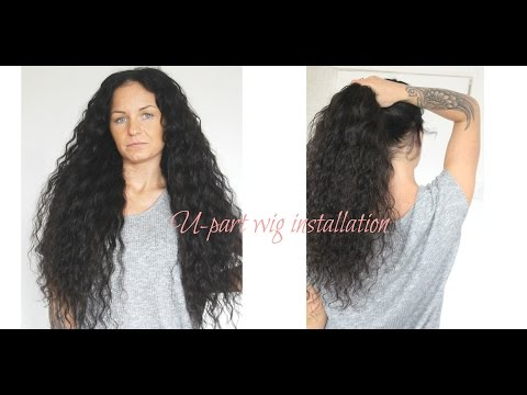 How to install a u-part wig on caucasian hair.