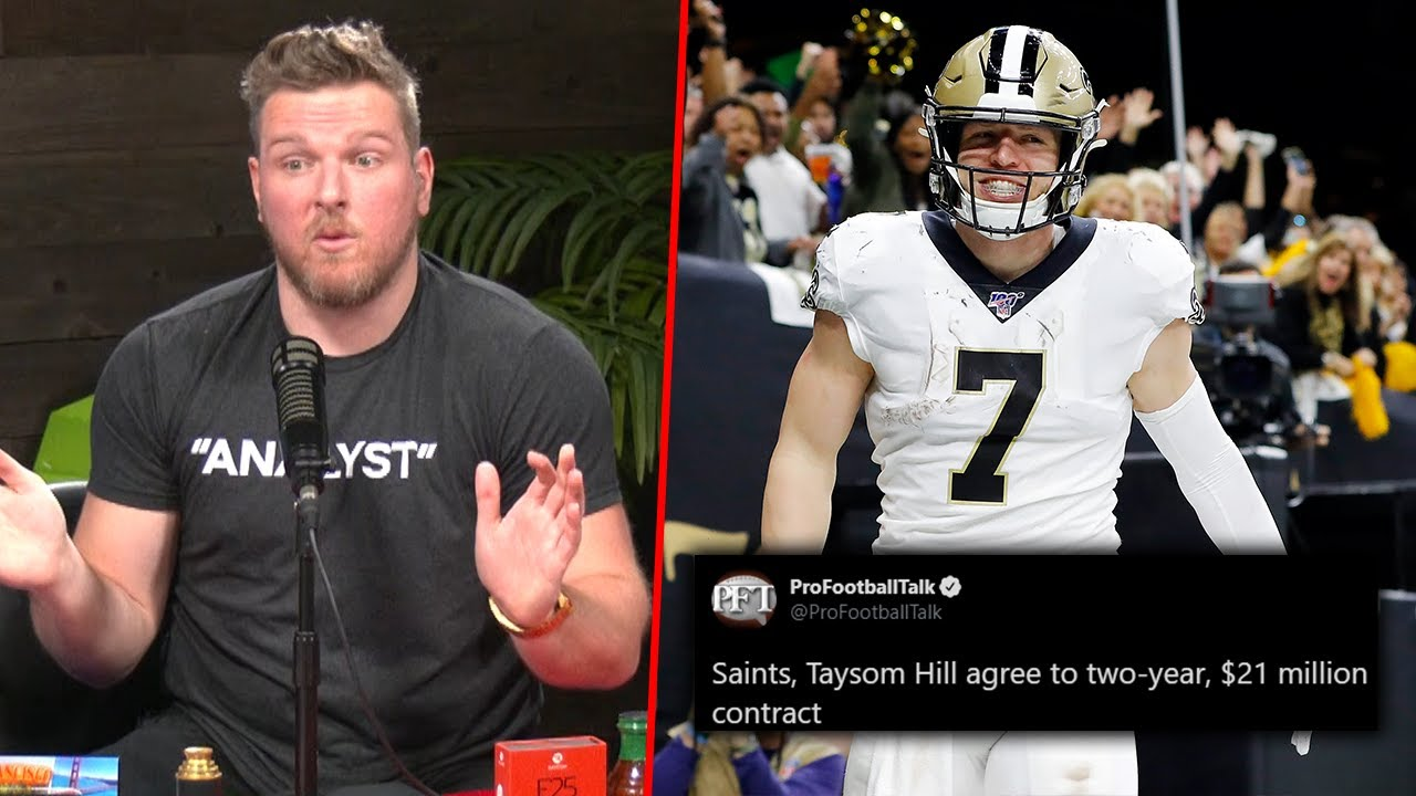 Pat McAfee Reacts To Taysom Hill's HUGE New Contract