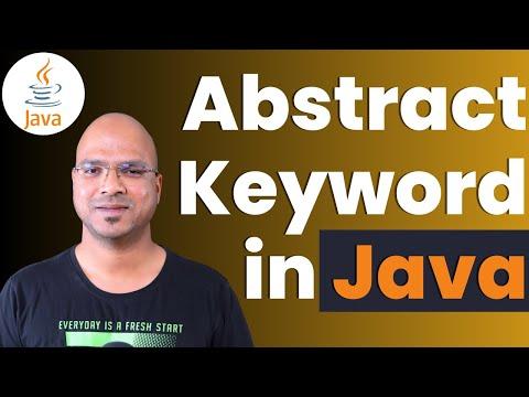 #6.8 Java Tutorial | Abstract Keyword