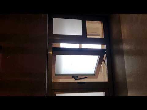 Aluminium Top Hung Casement Bathroom Window ( Frosted Glass )