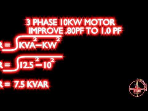 10kw motor 0.80 to 1.0 power factor improve calculation kvar formula