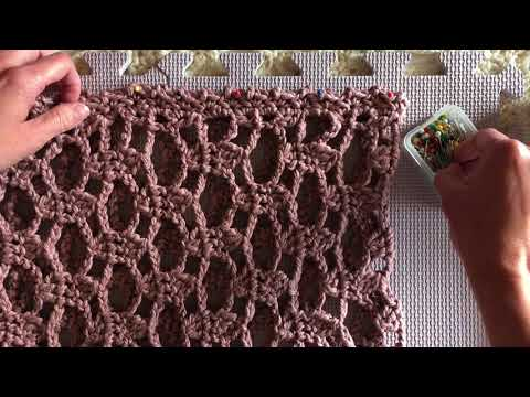 How to Steam Block Cotton Yarn for Crochet or Knit