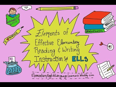 Elements of Effective Reading and Writing Instruction for ELLs