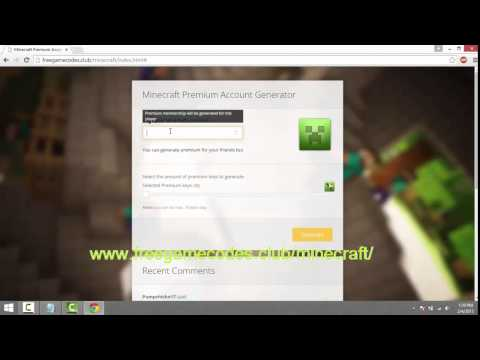 How To Get A Free Minecraft Premium Account (February 2015)