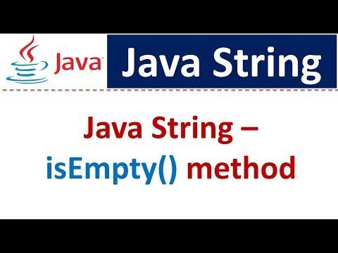 Java Tutorial : Java String [isEmpty() method]