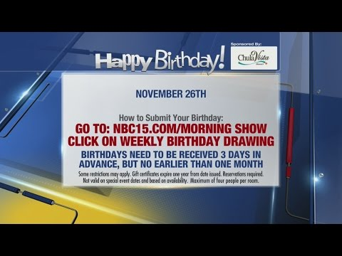 Birthdays for November 26th