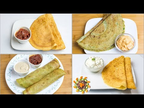 Protein Dosa Recipe 4 Ways l How to Make Protein Dosa | Healthy Lunch Box Ideas