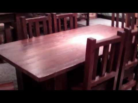Reclaimed Wood Table - Rustic Barnwood Dining Set by Viking Log Furniture