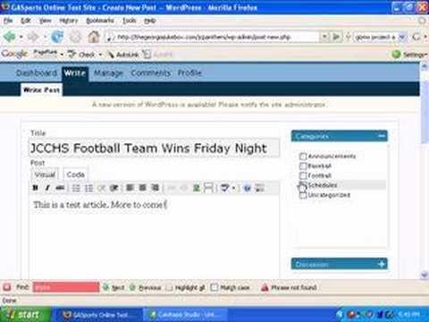 Georgia High School Sports Online Posting Tutorial