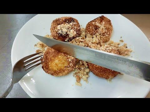 Honey Coconut Balls Fried Dessert Recipe