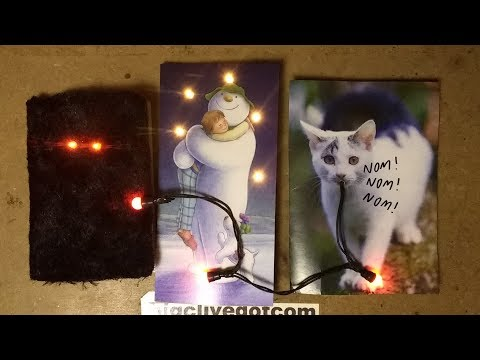 Add LEDs to your Christmas or birthday cards.