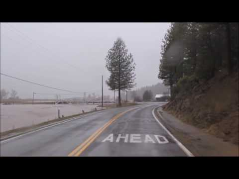 Driving Through Taylorsville North Arm to Lights Creek During Flooding - 02/09/17