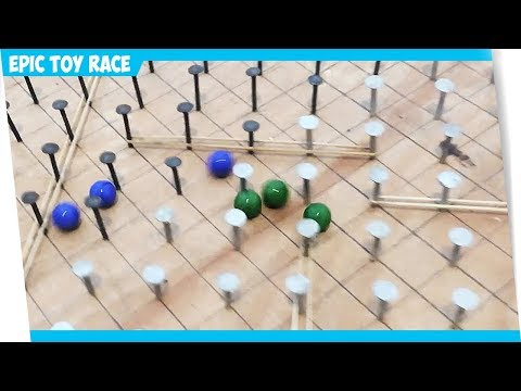 Giant Homemade Marble Race Track - Glass Marble Run Tournament 1