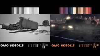 Car accident in 3DS Max 2010 - CGI Car crash - Car crash simulation - Highway