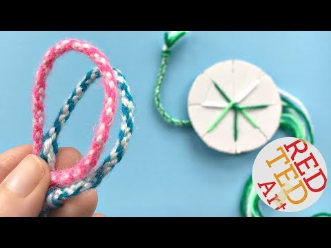 EASY How to make friendship bracelets with a cardboard disk -  DIY Kumihimo Bracelets