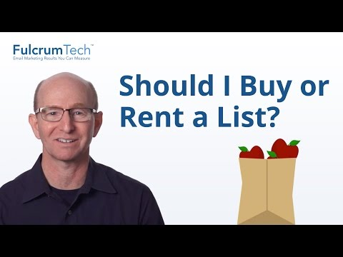 Should you buy/rent an email list?