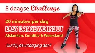 Intro: 💥𝐆𝐑𝐀𝐓𝐈𝐒 𝟴 𝗗𝗔𝗔𝗚𝗦𝗘 𝗖𝗛𝗔𝗟𝗟𝗘𝗡𝗚𝗘💥 Easy Dance Workout voor Afslanken en Conditie