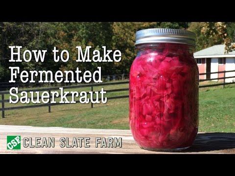 How to make Fermented Sauerkraut