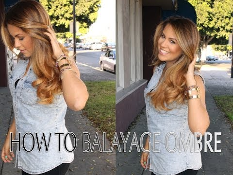 how to balayage ombre step by step