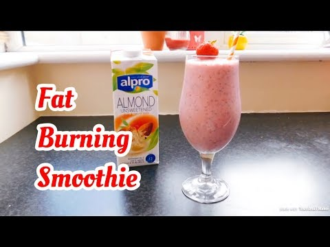 Weight loss Strawberry Banana Smoothie with Chia Seeds