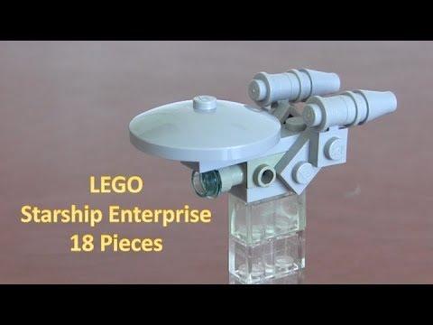 How To Build A LEGO Star Trek Mini Starship Enterprise With 18 Pieces