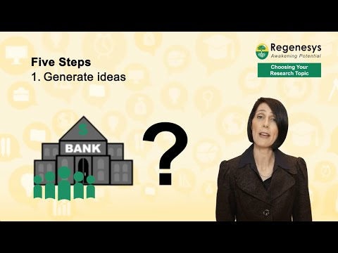 Choosing Your Research Topic - Regenesys Sticking Points