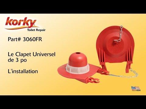 L'installation du Clapet Universel 3 po de Korky
