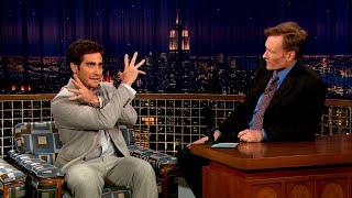 Jake Gyllenhaal Isn't Cut Out For Changing Diapers   Late Night with Conan O'Brien
