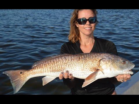Girl Fishing for Redfish Tampa Bay Florida