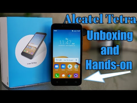 Alcatel Tetra AT&T Unboxing and Hands-on.