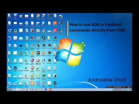 How to use ADB or FASTBOOT commands directly from CMD