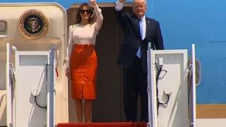 Trump Departs on First Trip Overseas
