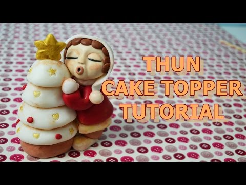 how to make christmas thun cake topper fondant - tutorial pasta di zucchero per torta di Natale