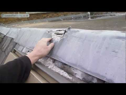 Lead on flat roofs oxidising