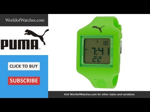 PUMA  Don't Run Out Of Steam Multi-Function Green Digital Dial Lime Green Silicone PU910791007