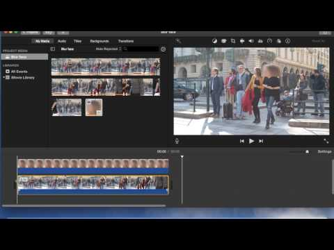 How to blur faces on imovie